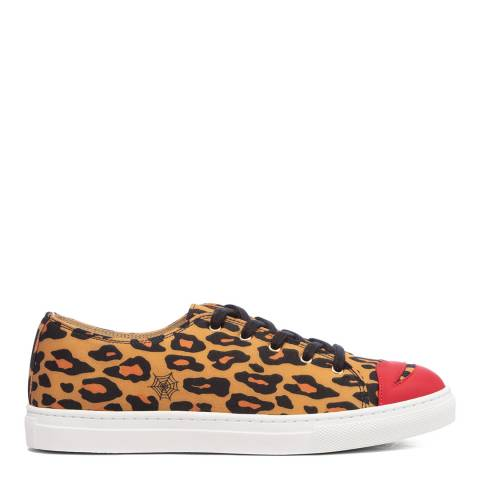 Charlotte Olympia Leopard Print Leather Trainers