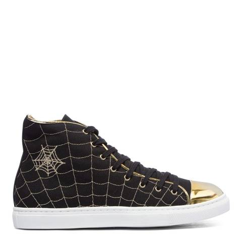 Charlotte Olympia Black Canvas High Top Trainers