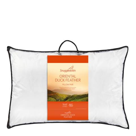 Snuggledown Oriental Duck Feather Pair of Pillows