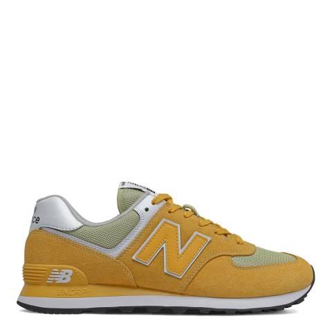 New Balance Yellow 574 Sneaker