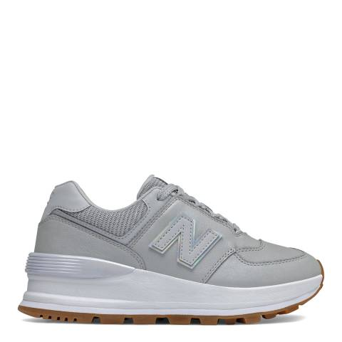 New Balance White 574 Sneaker