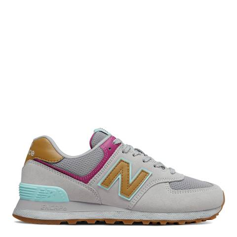 New Balance Grey/Multi 574 Sneaker