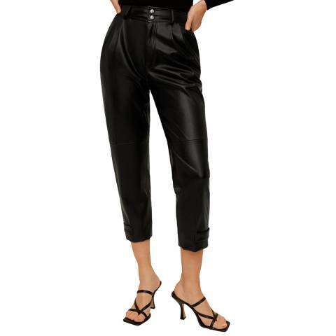 Mango Black Dart High Waist Trousers