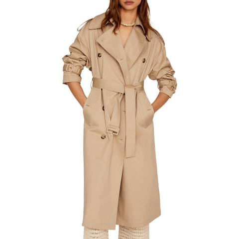 Mango Beige Double Breasted Trench
