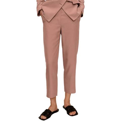 Mango Pink Cropped Modal Trousers