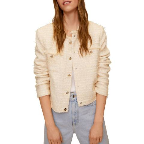 Mango Ecru Tweed Jacket