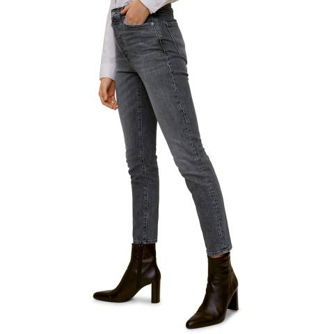 Mango Open Grey Jeans High Waist Slim Gisele
