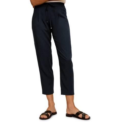 Mango Dark Navy Suit Laces Pant