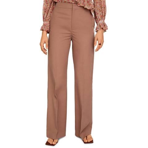 Mango Pink Cotton Palazzo Trousers