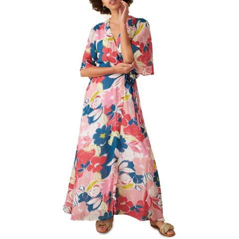 Emily and Fin Pink Asilah Floral Chloe Wrap Dress
