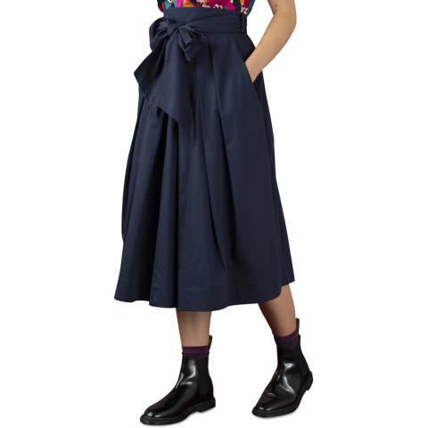 Emily and Fin Navy Cotton Satin Jemima Skirt