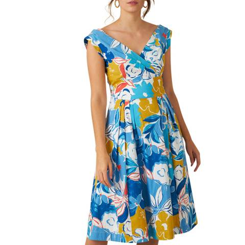 Emily and Fin Blue Asilah Floral Florence Dress