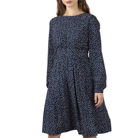 Emily and Fin Scattered Navy & White Spot Amy Dress