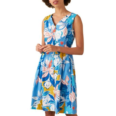 Emily and Fin Blue Asilah Floral Scarlett Dress