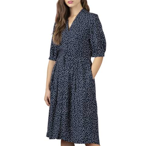 Emily and Fin Scattered Navy & White Spot Stella Shirt Dress