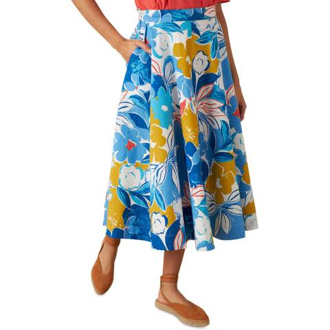 Emily and Fin Blue Asilah Floral Sandy Skirt