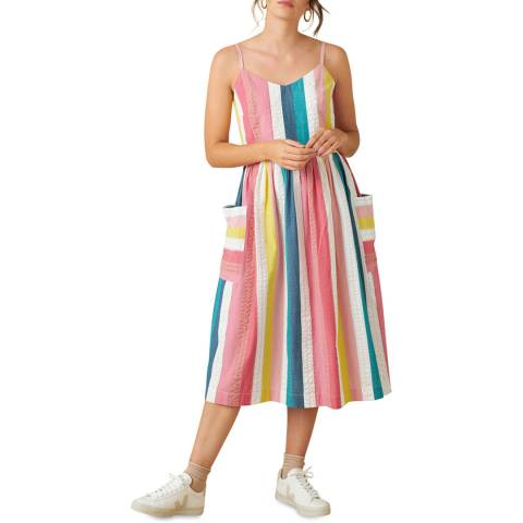 Emily and Fin Summer Rainbow Stripe Bree Dress