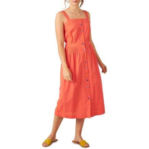 Emily and Fin Cadmium Red Cotton Linen Liana Dress