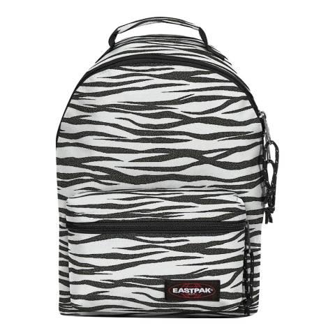 Eastpak White Zebra Orbit Mini Backpack