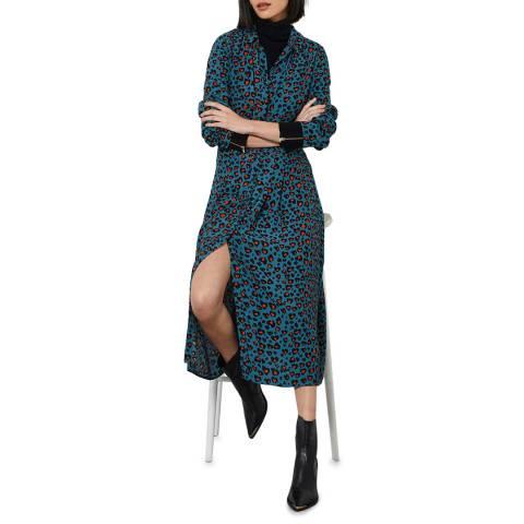 Mint Velvet Charlie Leopard Midi Dress