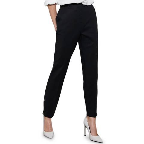 Mint Velvet Black Zip Capri Trousers