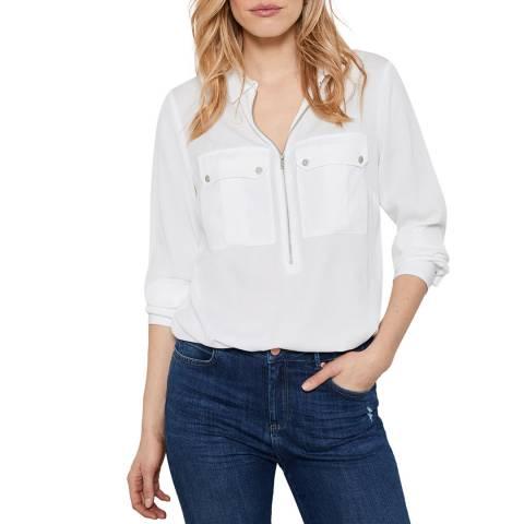 Mint Velvet Ivory Utility Zip Front Shirt