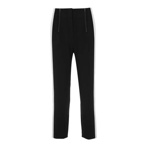 Mint Velvet Black Side Stripe Slim Trouser