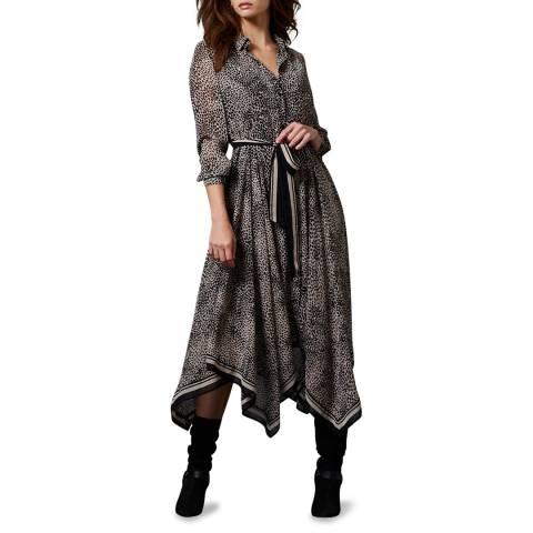 Mint Velvet Lottie Animal Print Midi Dress