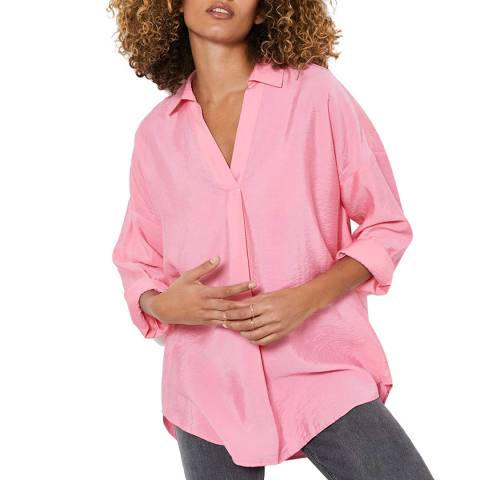 Mint Velvet Pink Oversized Shirt