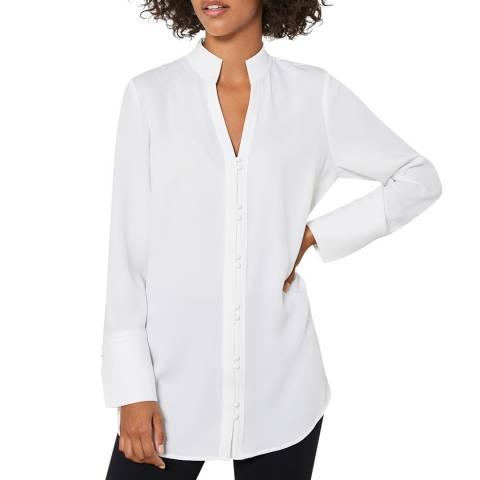 Mint Velvet Off-White Wrap Back Shirt