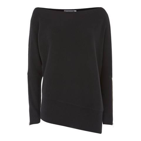 Mint Velvet Black Wool Blend Batwing Jumper