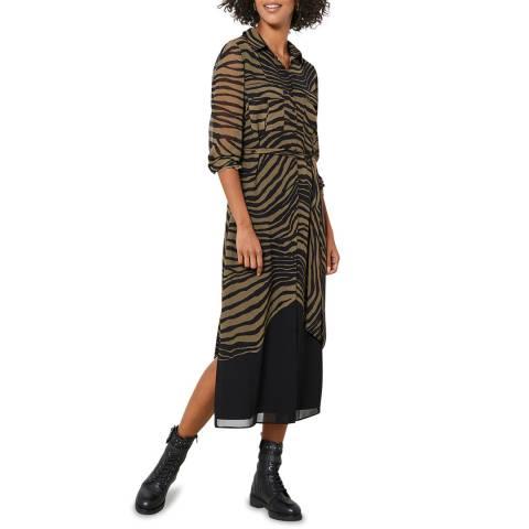 Mint Velvet Rey Animal Print Shirt Dress