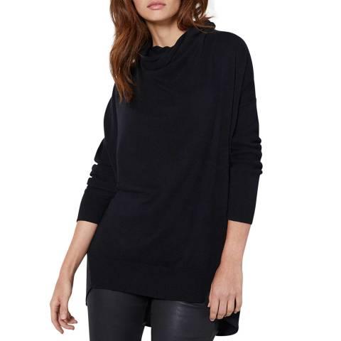 Mint Velvet Black Wool Blend Long Jumper