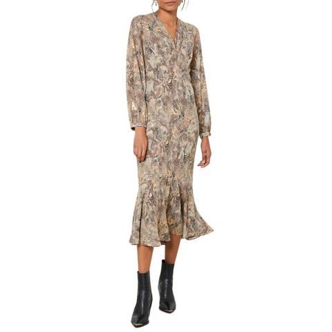 Mint Velvet Violet Snake Print Midi Dress
