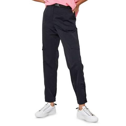 Mint Velvet Black Parachute Cargo Trousers