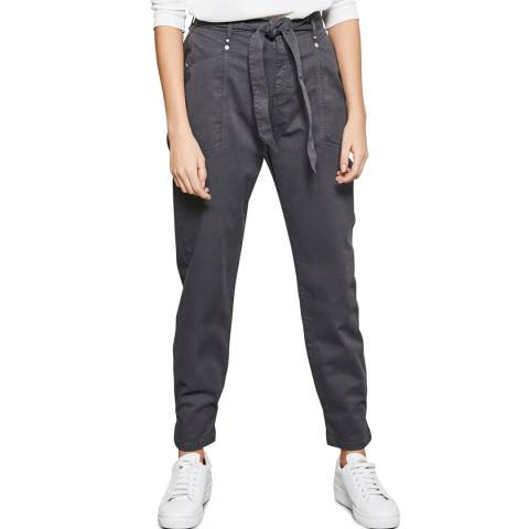 Mint Velvet Grey Belted Cargo Trousers