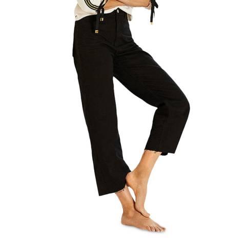 Mint Velvet Monroe Black Wide Crop Jeans