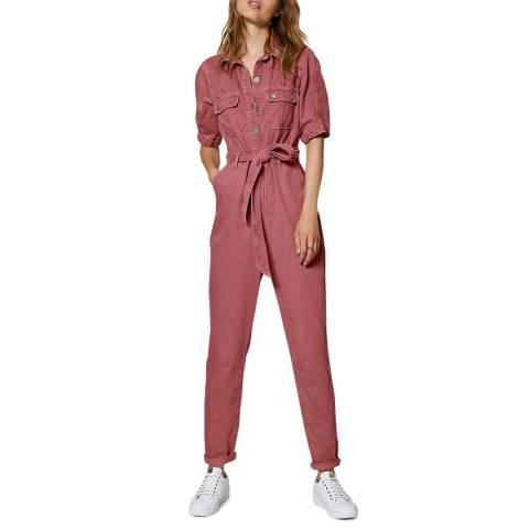 Mint Velvet Pink Cotton Twill Boilersuit