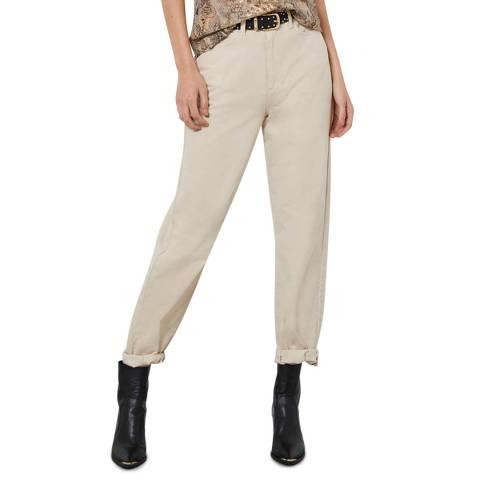 Mint Velvet Hudson Beige Slouchy Jeans