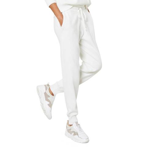Mint Velvet Cream Cabled Knitted Joggers