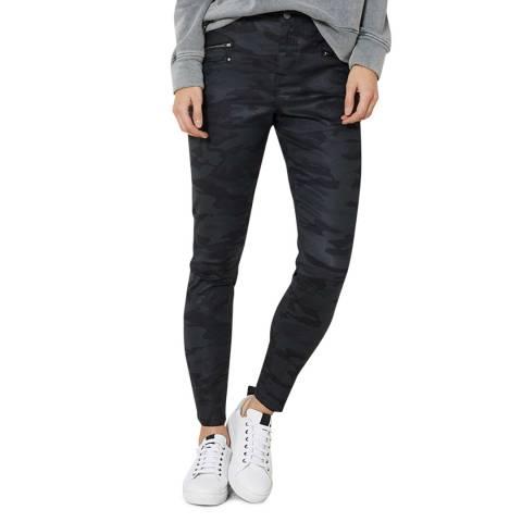 Mint Velvet Denver Black Coated Camo Jeans