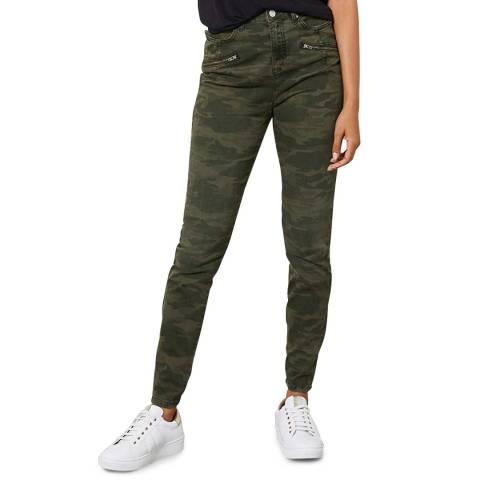 Mint Velvet Jackson Khaki Camo Skinny Jean