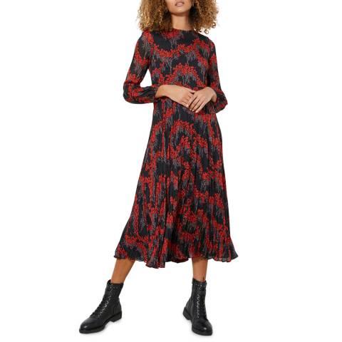 Mint Velvet Fran Print Crinkled Midi Dress