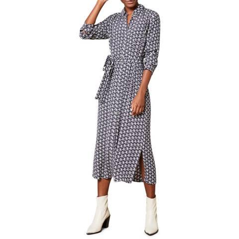 Mint Velvet Penny Print Shirt Midi Dress
