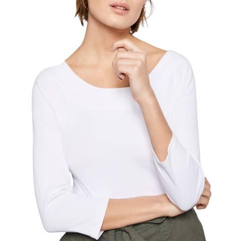 Mint Velvet White Curved Bardot Top
