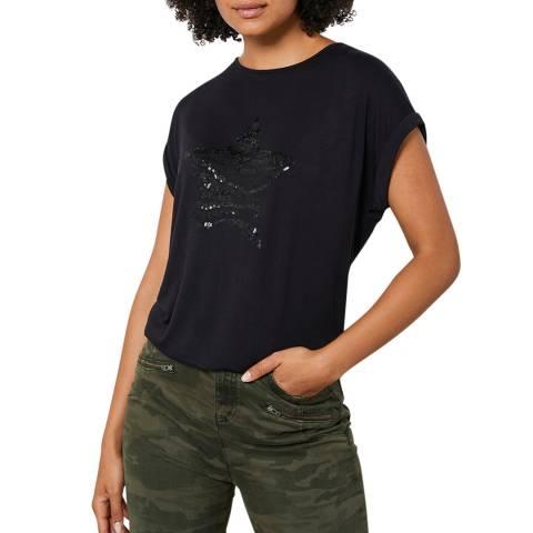 Mint Velvet Black Animal Star T-Shirt