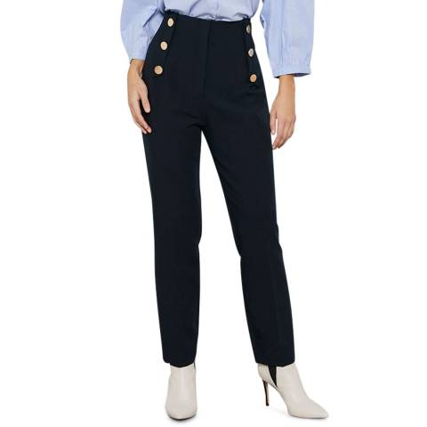 Mint Velvet Navy Cigarette Trousers