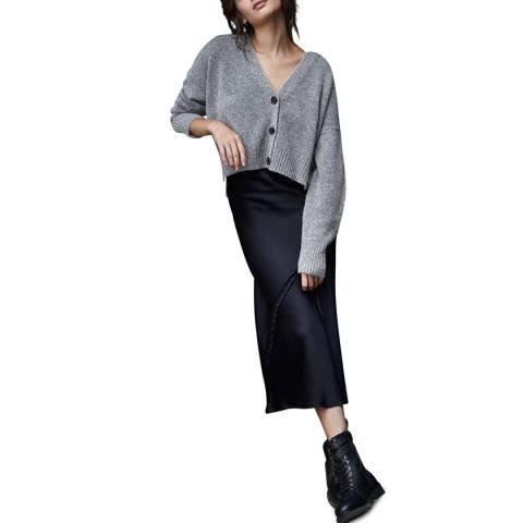 Mint Velvet Grey Cardi 2-in-1 Slip Wool Blend Dress