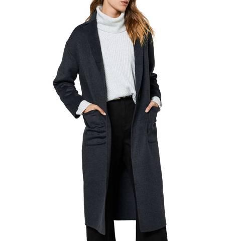 Mint Velvet Grey Wool Blend Coat