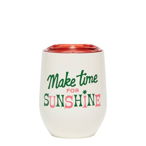 ban.do Make Time For Sunshine Stainless Steel Cup With Lid